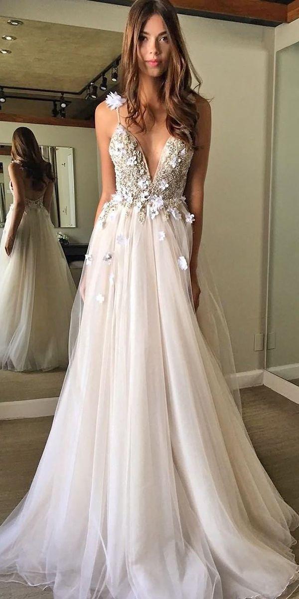 Top 21 Wedding Dresses For Celebration ❤ See more: http://www.weddingforward.com/wedding-ideas-part-2/ #weddings