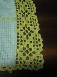 toalla de baño con puntillas en crochet - Pesquisa Google