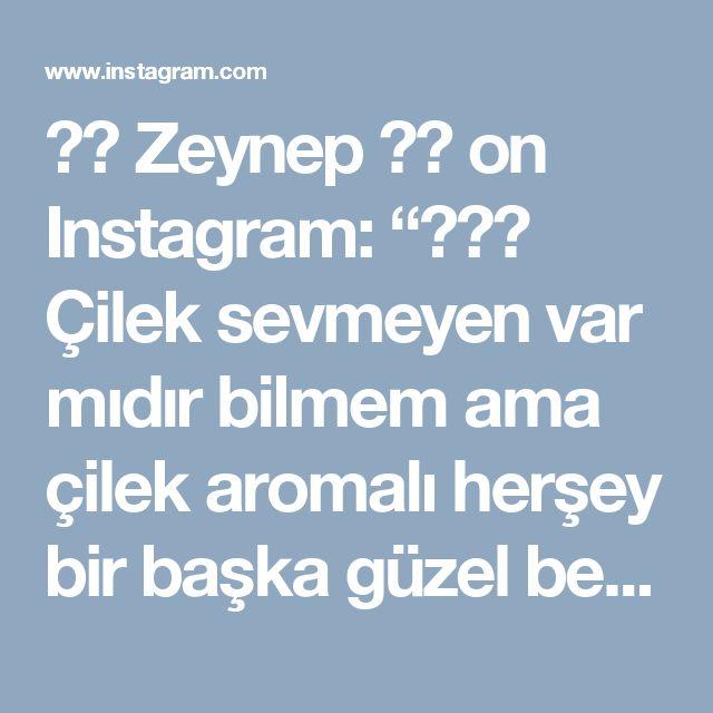 """♨️ Zeynep ♨️ on Instagram: """"🍓🍓🍓 Çilek sevmeyen var mıdır bilmem ama çilek aromalı herşey bir başka güzel bence 👌 Tarif için 👉 @zeynepinlezzetleri ~~~ 🍓Çilek Pudingli…"""""""
