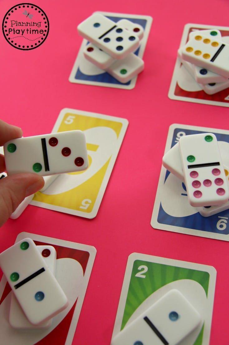 Lustige Dominos Mathematik-Zählaktivität für Kindergärten Weitere Informationen zu Mathematik und Lernen