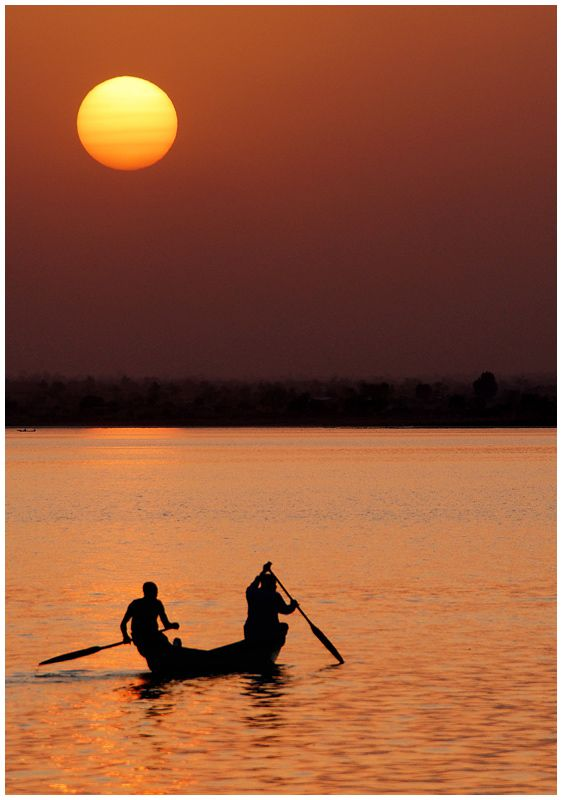"Cameroon | ""Days End - Southern Lake Lagdo"" by John Laskey"