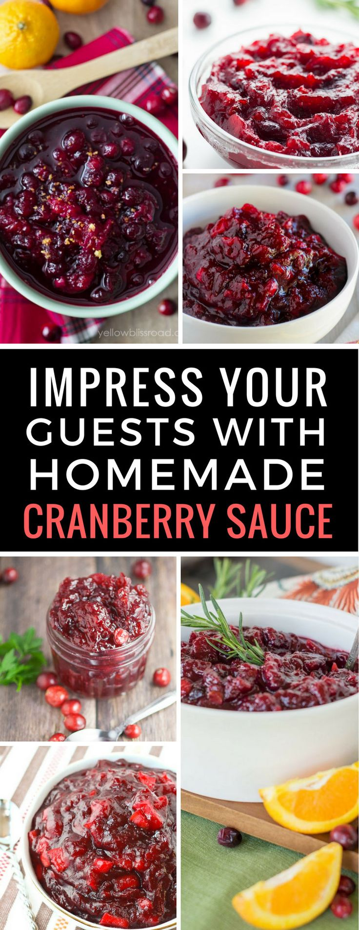 Ready to ditch the can and try a homemade Cranberry Sauce this year? Whether you're preparing for Thanksgiving or Christmas your guests will love any one of these sauces! Click on the image to see the whole collection! | Cranberry Sauce | Thanksgiving | Christmas | Recipes
