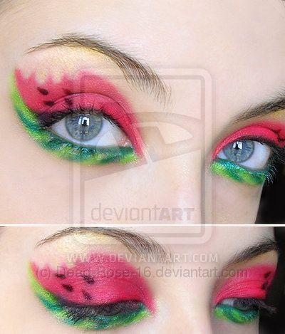 watermelon eyes!!: Make Up, Eye Makeup, Style, Eye Shadows, Watermelon Eye, Beautiful, Eyeshadows, Eyemakeup, Hair