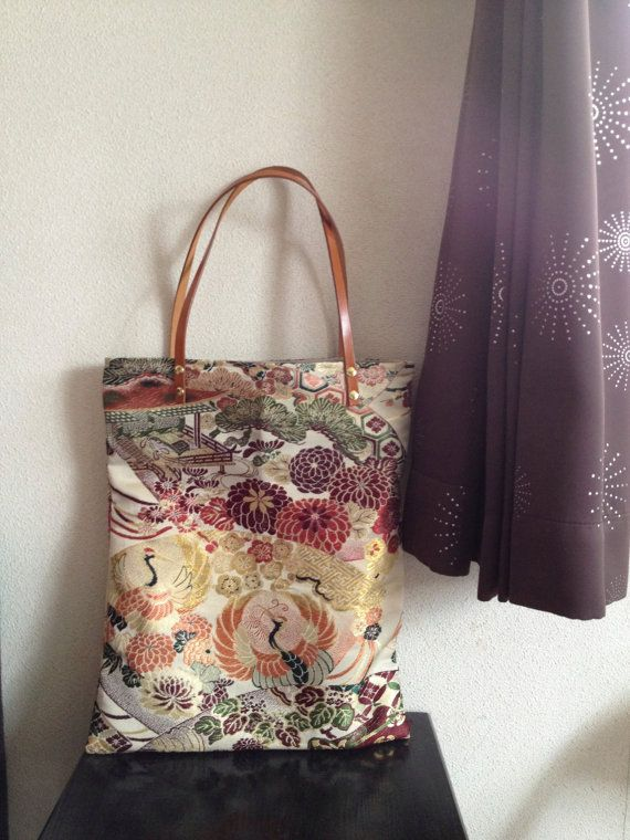 Kimono Obi Bag / GD430 Traditional Japanese by RummyHandmade, $50.00