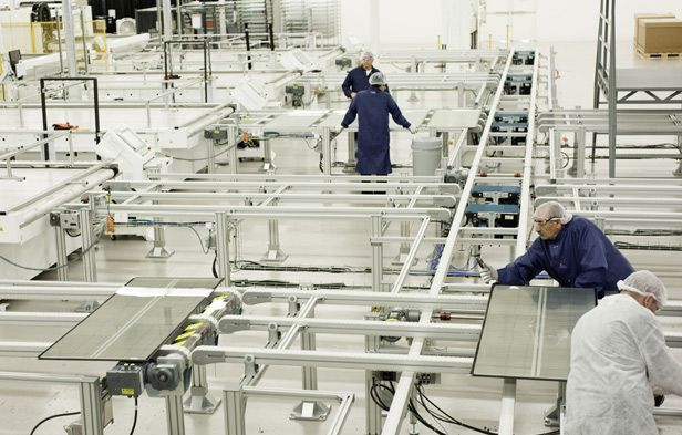 Miasole, a leading maker of thin-film solar panels, manufactures its products at its plant in California.