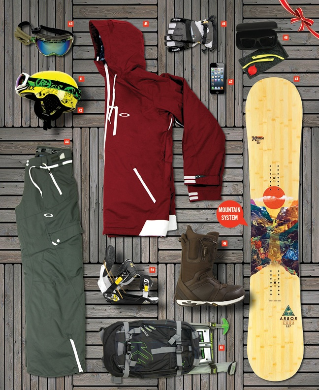2012 Annual Gift Buyers Guide. Includes Line Skis, Kona Bicycles, Arbor, Dual Snowboards, Oakley Eyewear, Tecnica, Epic Surf Racks, Windigo, Sector 9, Matuse Wetsuits, Quiver, Olukai, Rockwell, Go Pro, SurfIndian, Jag Media, Alpinestars, Trunq, Stickybumps, Zoggs, Swany, Patagonia, Apple, Spy, Julbo, Bern Helmets, Dakine, Oakley, Line Ski poles, Arnette, K2, Ride, Burton, Flow, Etnies, Goldcoast Skateboards, Arbor, Bern Gloves, Thule Surf Racks, Riviera SUP, Lifeproof, Oneill, Victory…