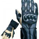Motorbike Short Gloves, Men Leather Gloves, Kids Leather Gloves, Silver Motorbike Gloves