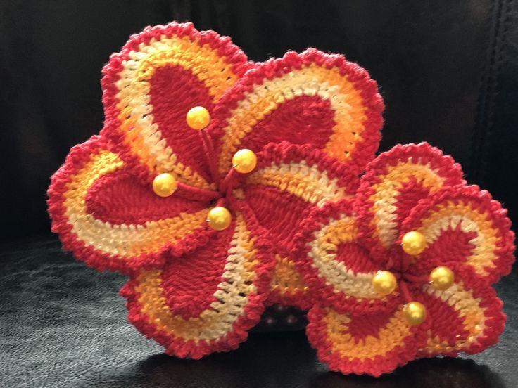 Handmade crocheted flowers I call this Sun Blossoms