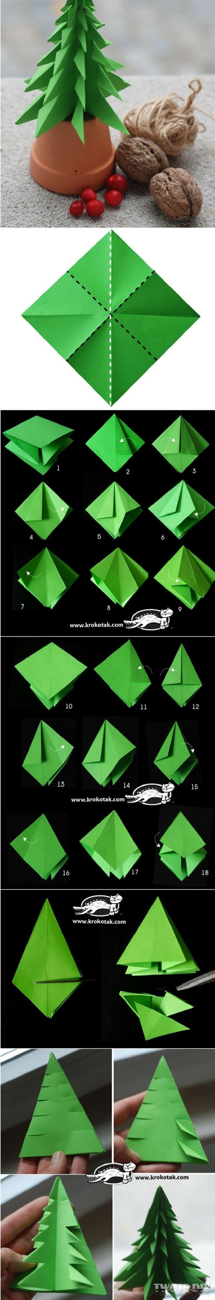 Choinka origami