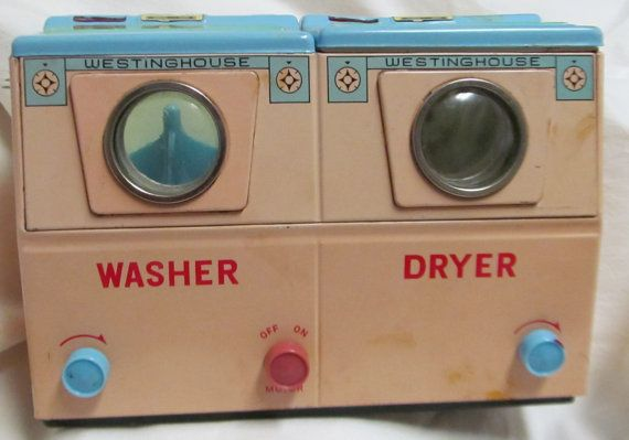 vintage toy washer dryer westinghouse by thecedarchestmidland toys to tots pinterest. Black Bedroom Furniture Sets. Home Design Ideas