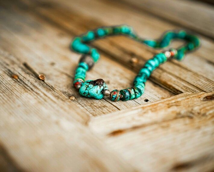 Turquoise, Silver, Afghan Beads