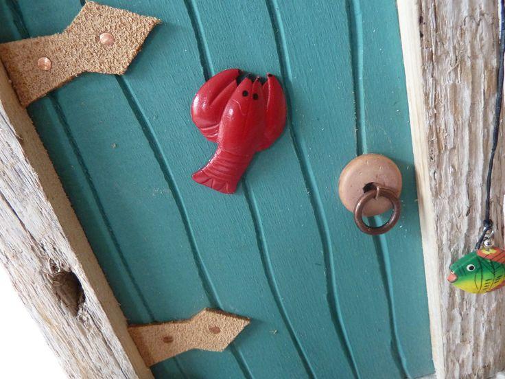 Sea shanty fairy door closeup