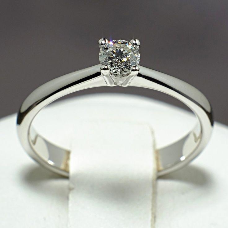 Inel din aur alb cu diamant model i026