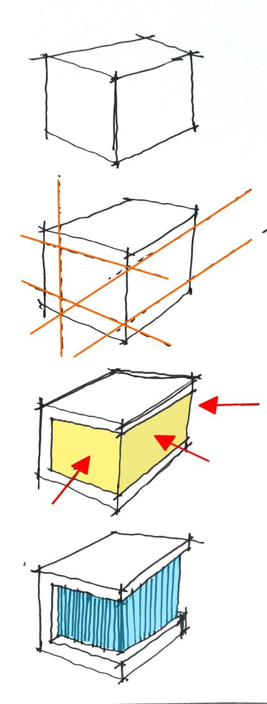 Cube House, Architectural Diagram | Maria Rodriguez