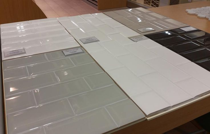 Biselado (Bevelled) 3x6 Subway Tiles. Four colours available.