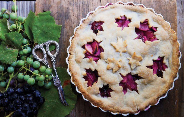 Autumn pie crust concept