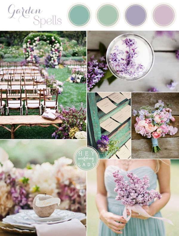 Sarah Addison Allen's Garden Spells Wedding Inspiration Board in Lilac and Sage
