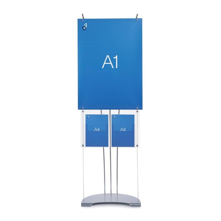 A1 Poster Banner with Brochure Holder Display Stand