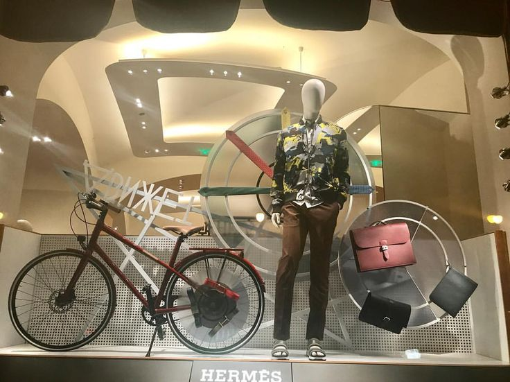 "GUM DEPARTMENT STORE, Red Square, Moscow, Russia, ""Ride bikes... Walking them would just look silly"", for Hermes, pinned by Ton van der Veer"