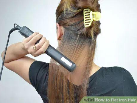 Flat Iron Hair Step 10