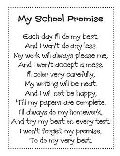 My School Promise poem -- also has a picture of how to incorporate it into a poetry journal
