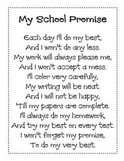 My School Promise poem: Poetry Book, Classroom, Idea, Schools, Grade, Activities, Poem, School Promise, Teachers