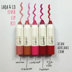 LAQA CO FIVER LIP KIT colors #makeupreviews #reviews #makeup #laqa # lips #lipswatches #swatches #cosmetics