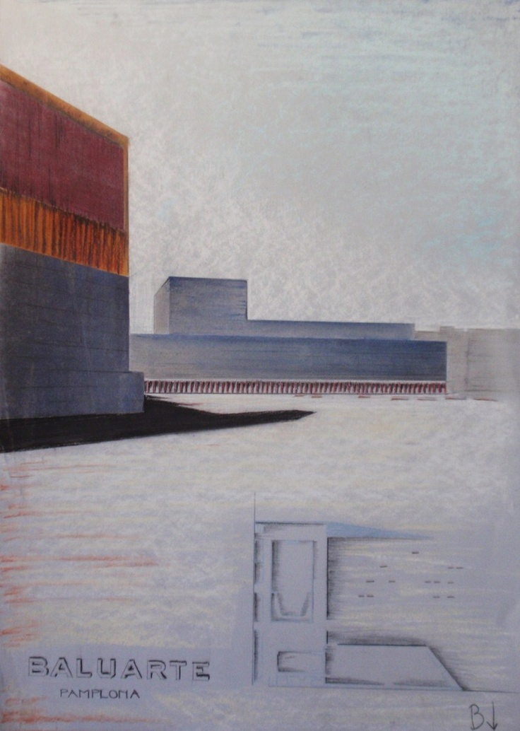 Baluarte Pamplona 2005, painted with pastel _public space between walls_