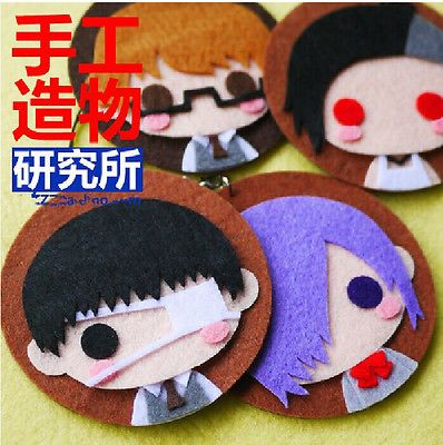 Anime Tokyo Ghoul Cosplay Costume DIY toy Doll keychain Japan 4pcs Material