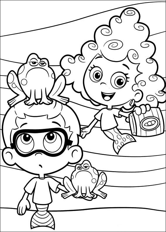 funny deema and nonny from bubble guppies coloring page