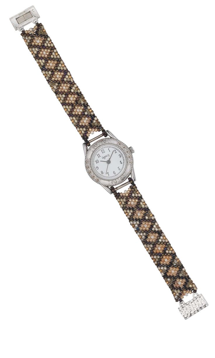 Jewelry Design - Watch with Delica® Glass Seed Beads - Fire Mountain Gems and Beads