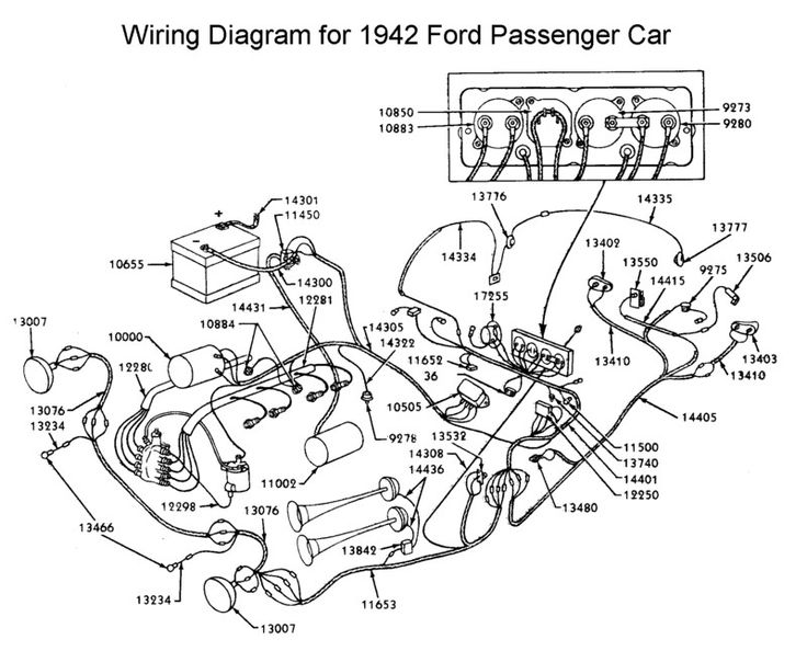 1942 Mercury Wiring Diagram Ford Mercury Car Truck Service Shop