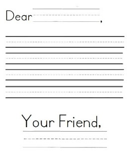 {freebie} letter writing paper never know when this could come in handy in class