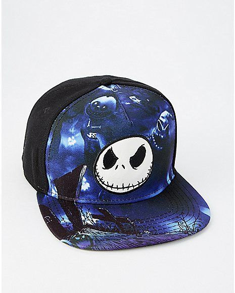 Jack Skellington Snapback Hat - The Nightmare Before Christmas - Spencer s 03a667e5a7b