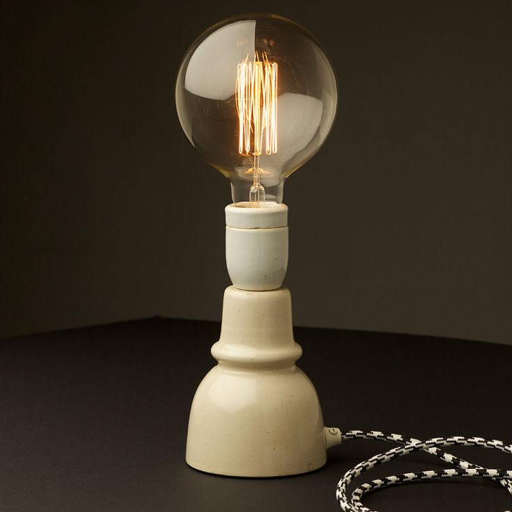 Vintage Ceramic Insulator Table Lamp For The Home