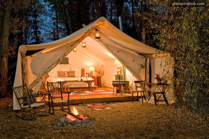 Jackson Hole Tent Cabins   Luxury Tents Jackson Hole - Aaah. Now, THIS is camping. :-)