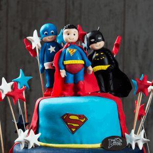 super kahramanlar butik pasta, batman, superman, doğum günü pastası, liva,