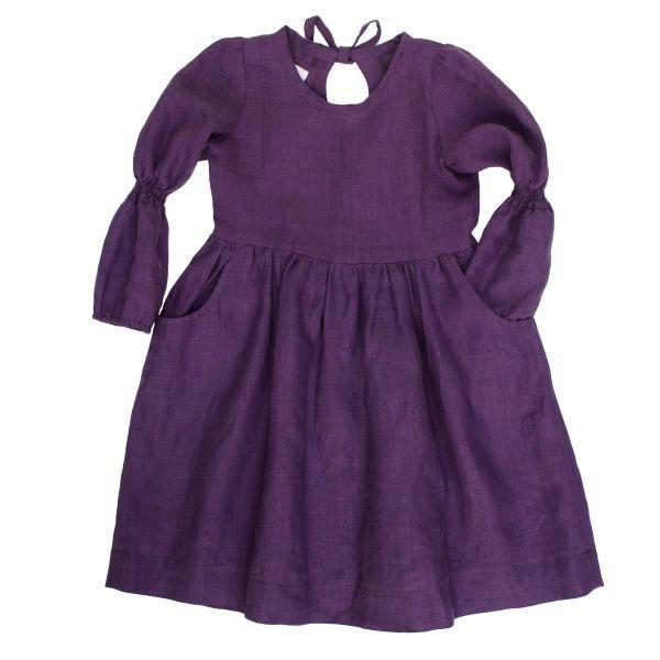 Mákvirág — Smocked sleeve dress lavender