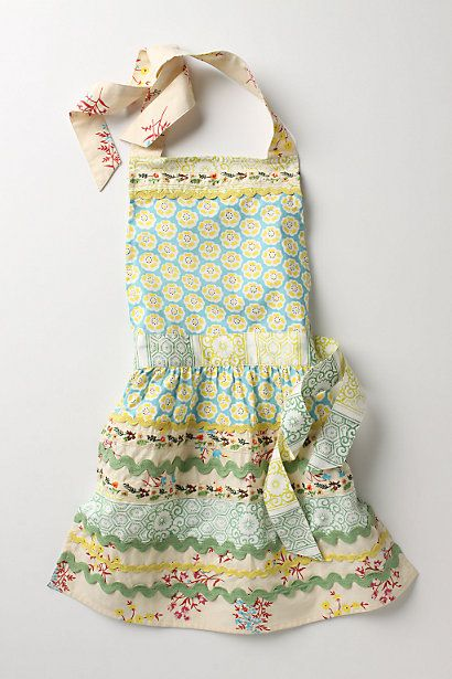 Sewing Basket Kid's Apron #anthropologie -- Looks DIY-ableKitchens, Cookies Dough, Sewing Baskets, Little Girls, Gift, For Kids, Kids Aprons, Daughters, Baskets Kids