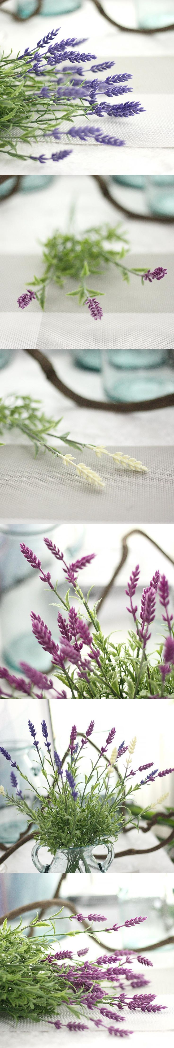 Fake Plants Artificial Lavender Leaves Grass nice room Floral Mini Green Decor Flowers Arrangement