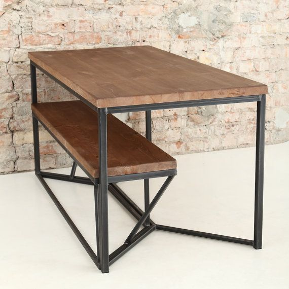 Solid Industrial Dining Table от Cosywooduk на Etsy