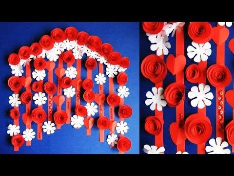 Simple Home Decor Wall Door Decoration Hanging Flower цветы из бумаги Paper Craft Ideas You