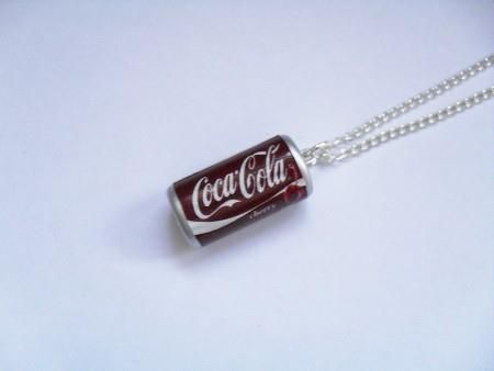 Coca Cola necklace. That photo just dislodged a memory