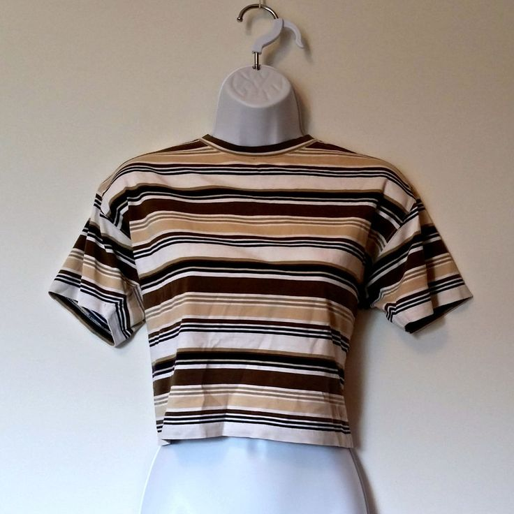 (592) Vintage 90s Cropped Tee Striped Liz - Size M, Medium Med, Grunge Preppy in Clothes, Shoes & Accessories, Vintage Clothing & Accessories, Women's Vintage Clothing | eBay!