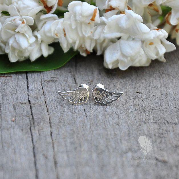 Silver wings - Marta-Latawiec - Kolczyki krótkie