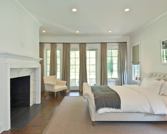 molding ideas around attic wall - Benjamin Moore China White walls trim and ceiling