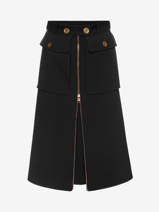 Shop Women's Military Skirt from the official online store of iconic fashion designer Alexander McQueen.