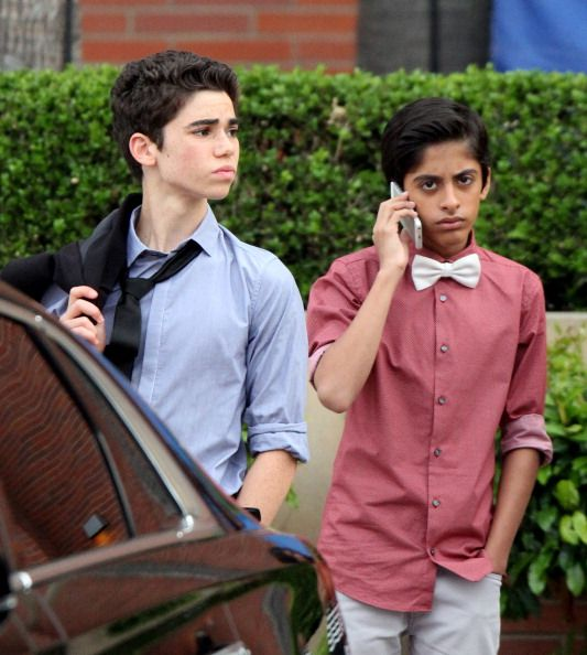 Cameron Boyce and Karan Brar sighting on March 29 2014 in Los Angeles... News Photo 483898889