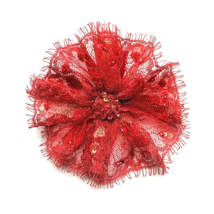 Carmen Flower Brooch by Amalia Karagergou