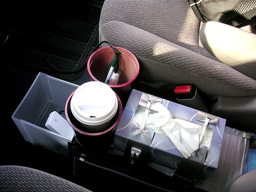 diy minivan center console diy minivan console made from duct tape and yogurt containers. Black Bedroom Furniture Sets. Home Design Ideas